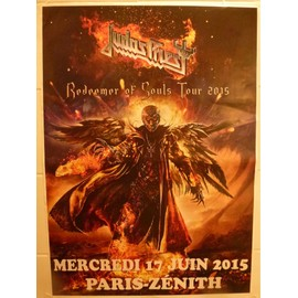 JUDAS PRIEST TOUR 2015 AFFICHE DE CONCERT redeemer of souls tours 2015