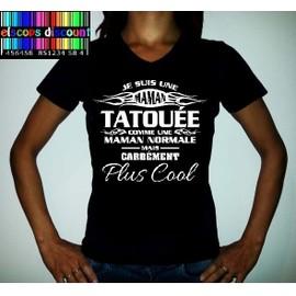 T-Shirt Femme Je Suis Une Maman Tatou�e