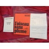 Theatre Recamier-L Oiseau Sans Plume- de GEORGES COULONGES-LOUIGUY