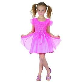 D�guisement Princesse Rose Fille, Taille 4 � 6 Ans