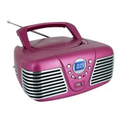Lecteur Cd Portable Rose Cd Radio Usb