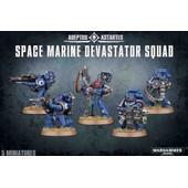 Warhammer 40,000 ( 40k ) - Space Marine Devastator Squad (48-15)