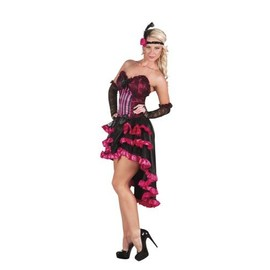 D�guisement French Cancan Rose Femme, Taille Small