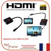 NGI�-1080P micro HDMI M�le vers VGA Femelle Video Convertisseur Adaptateur