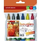Crayon De Cire Liquide Pour Bougie - 6 Pi�ces - Dtm
