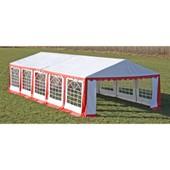 Vidaxl Toile De Rechange Pour Tente R�ception 10 X 5 M En Rouge Et Blanc