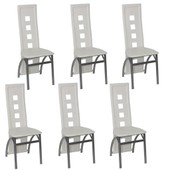 Vidaxl Chaise Design Quattro Blanc (Lot De 6)