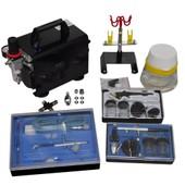 Vidaxl Kit Compresseur Airbrush Professionnel 3 A�rographes