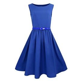 Elite99 Femmes Sans Manches Robe De Bal Soir�e Sexy Dress Noir Rouge Vert Bleu 36-50