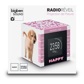 Radio Reveil Cube Projecteur Decor Dogs 2