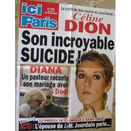 CELINE DION AFFICHE PUBLICITAIRE ICI PARIS
