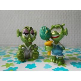 Lot De 2 Figurines Aliens (Extra-Terrestres) Verts