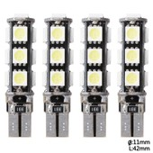Xcsource 4x T10 13smd 5050 Voiture Led Lampe Veilleuse Lumi�re Ampoule Blanc W5w 158 Canbus Side Width Ma132