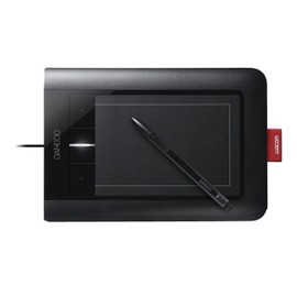Wacom Bamboo Pen & Touch - Numériseur - 14.7 x 9.2 cm - électromagnétique - filaire - USB - noir, citron vert