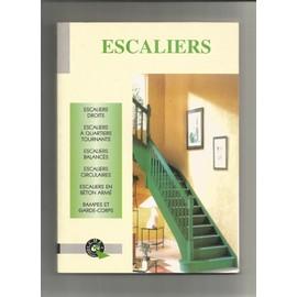 escaliers, escaliers droits a quartiers tournants balancés circulaires en béton armé rampes et garde-corps