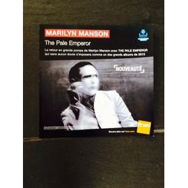 MARILYM MANSON THE PALE EMPEROR PLV 2015 FNAC 30CM*30CM