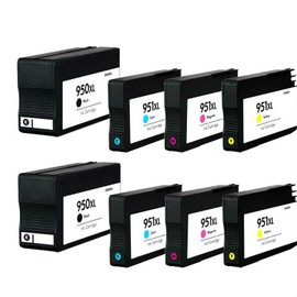 Superb Choice - Hp Officejet Pro 8100 8610 8615 Combo Compatible Cartouches D'encre (Pack Of 2 Noir+Cyan+Magenta+Jaune)