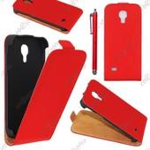 Ebeststar � Housse Coque Etui En Pu Cuir � Rabat Ultra Fine (Slim Case) Pour Samsung Galaxy S4 Mini Gt-I9190, I9192, I9195, Couleur Rouge + Stylet + Film Protection D'�cran