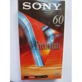 LOT DE 2 K7 VHS VIERGES SONY PREMIUM 60 MIN