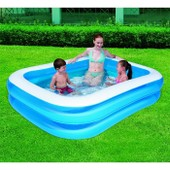 Piscine Gonflable Rectangulaire - 211 X 132 X 46 Cm