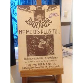 Fernandel - Barnabé - Ne me dis plus tu... Tango passionné et nostalgique - Manse Oberfeld