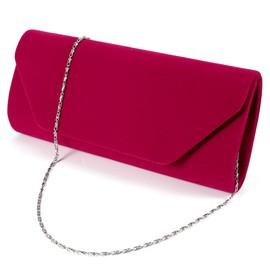 Velours Pochette Mariage Soiree Sac � Main Baguette Cha�ne Velvet Clutch Bag