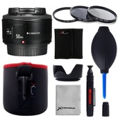XCSOURCE Yongnuo 50mm F/1.8 Lens + 52mm UV CPL ND4 Filter + Pouch + Hood For Canon 600D 700D LF661