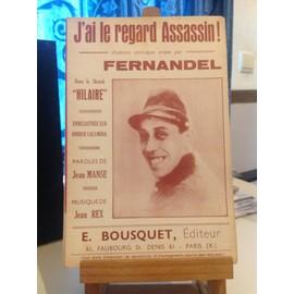 """Fernandel - J'ai le regard assassin! dans le sketch """"hilaire"""""""
