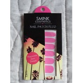 Smink Cosmetics Nail Patch Rose Fluo Patchs Pour Les Ongles