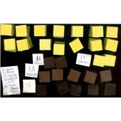 130 Mosaiques, Carr De 19mmx19mm, �paisseur 5mm, Pate De Verre Aspect Mat : 72 Citron- 23 Marron Clair - 12 Marron Fonc� - 25 Anthracite Noir -