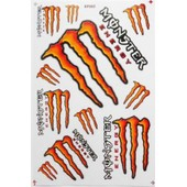 Planche Autocollant Stickers Monster Energy Orange - 11 Pieces