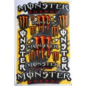Planche Autocollante Stickers Monster Energy 27x18