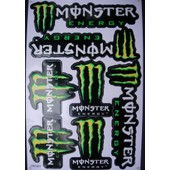 Planche Autocollant Stickers Monster Energy - 7 Pieces