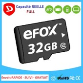 Carte M�moire Micro Sdxc 32 Gb Classe 10 + Sd Adapter P/R Samsung Sony Htc Wiko...