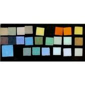 25 Mosaiques Pate De Verre : 24 Carr�s Multicolores Biseaut�s 20mmx20mm Ep 5mm + 1 Carr� De 30x30mm