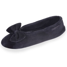Chaussons Ballerines - Velours - Grand Noeud