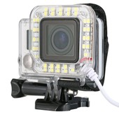 LED Flash Light Ring for Sport Camera GoPro Hero 3 3+ 4 Waterproof Case OS246