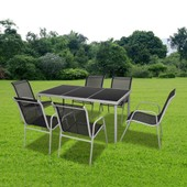 Vidaxl Set De Table � Manger Et 6 Chaises En Textil�ne