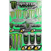 Planche Autocollante Stickers Monster Energy 27x18 #2