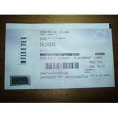 Ticket / Billet Calogero Zenith De Dijon 2015.