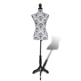 Vidaxl Buste De Couture Mannequin Femme, Noir Blanc