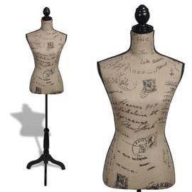 Vidaxl Buste De Couture Femme Brun Et Noir