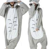 Manteau Kigurumi Pyjamas Unisexe Animal Animaux Combinaison Cosplay Adulte Costume Animaux Chat Style Totoro