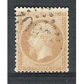 France, 1862, Napol�on I.I.I., Classique N�21 (10 C. Bistre), Oblit�r�.