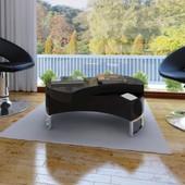 Vidaxl Table Basse Pivotante En Mdf Noire Brillante Laqu�e