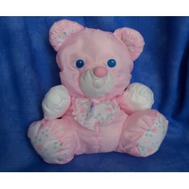 Ours Rose Puffalump Fisher Price Doudou Hochet 20 Cm