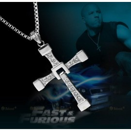 Neuf,Collier Pendentif Croix Fast And Furious 7 + Chaine 60 Cm, Qualit� Excellente ++