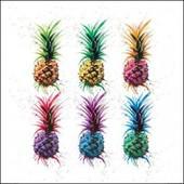 Ananas Poster Reproduction - Pineapple Rainbow, Sarah Stokes (60x60 Cm)