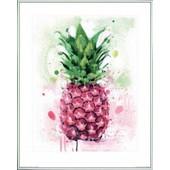 Poster Reproduction Encadr�: Ananas - Tropical, James Paterson (50x40 Cm), Cadre Plastique, Blanc