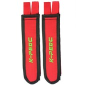 Double Velcro P�dale Toe Strap Orteil Sangle Rouge Nylon Pour Bicyclette V�lo